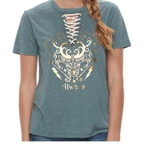 Juniors Harry Potter Lace Up Tee